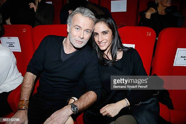 Actor Franck Dubosc and his wife Daniele attend the 'Bis' Movie Paris Premiere at Cinema Gaumont Capucine on February 10 2015 in Paris France