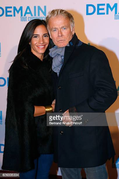 Actor Franck Dubosc and his wife Daniele attend the 'Demain Tout Commence' Paris Premiere at Cinema Le Grand Rex on November 28 2016 in Paris France