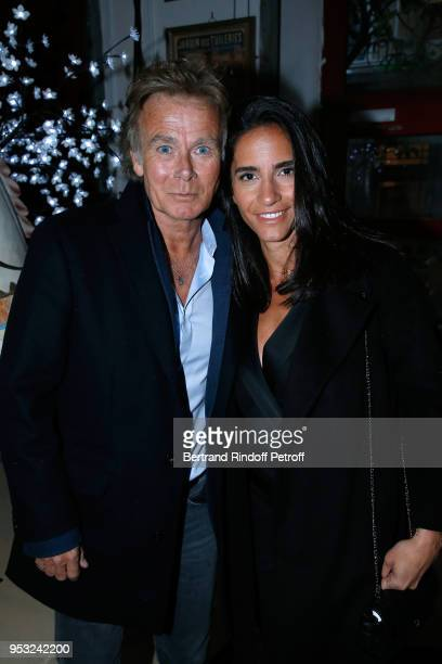 Actor Franck Dubosc and his wife Daniele attend the Dinner in honor of Nathalie Baye at La Chope des Puces on April 30 2018 in SaintOuen France