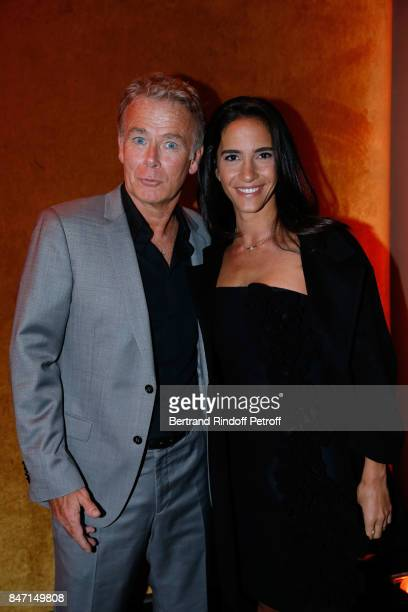 Actor Franck Dubosc and his wife Daniele attend the Reopening of the Hotel Barriere Le Fouquet's Paris decorated by Jacques Garcia at Hotel Barriere...