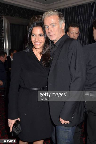 Actor Franck Dubosc and his wife Daniele attend the Russian New Year Dinner Party hosted by Smirnoff at the Castel Club on January 13 2011 in Paris...