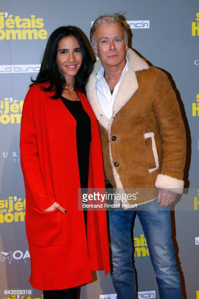 Actor Franck Dubosc and his wife Daniele attend the 'Si j'etais un Homme' Paris Premiere at Cinema Gaumont Opera on February 21 2017 in Paris France