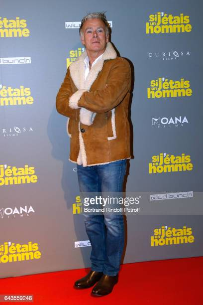Actor Franck Dubosc attends the 'Si j'etais un Homme' Paris Premiere at Cinema Gaumont Opera on February 21 2017 in Paris France