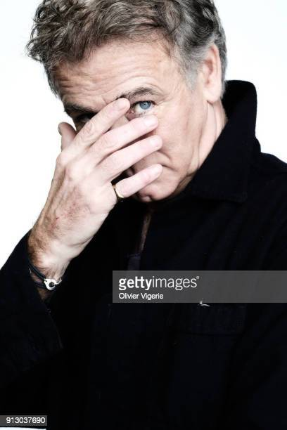 Actor Franck Dubosc is photographed for Self Assignment on January 2018 in Alpe D'huez France