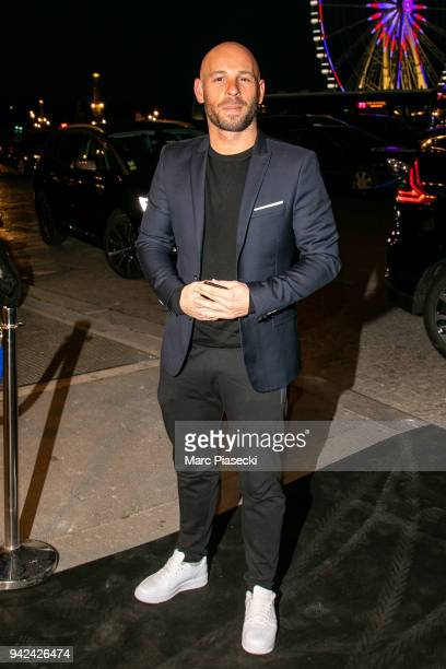 Actor Franck Gastambide arrives to attend the 'Madame Figaro' dinner at Automobile Club de France on April 5 2018 in Paris France
