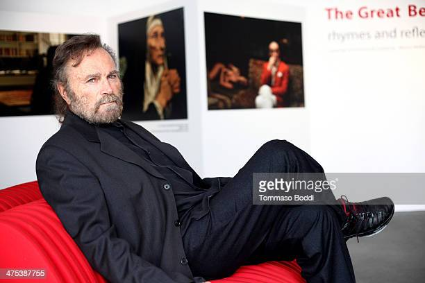 Actor Franco Nero attends the Italian Cultural Institute of Los Angeles hosts The Great Beauty Rhymes And Reflections exhibit held at the Italian...