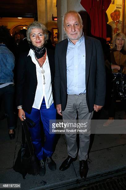 Actor Francois Berleand and his wife Alexia Stresi attend 'Le Mensonge' : Theater Play. Held at Theatre Edouard VII on September 14, 2015 in Paris,...