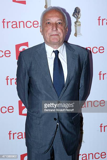 Actor Francois Berleand attends the 27th 'Nuit Des Molieres' 2015. Held at Folies Bergere on April 27, 2015 in Paris, France.