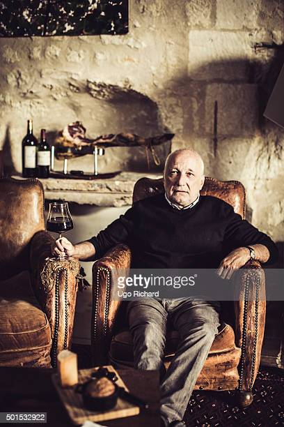 "Actor Francois Berleand is photographed for Gala Food special edition ""Cooking with celebrity"" on October 10, 2015 in Montlouis-sur-Loire, France."