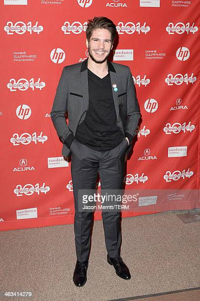 Actor Francois Civil attends the Frank premiere at Eccles Center Theatre during the 2014 Sundance Film Festival on January 17 2014 in Park City Utah