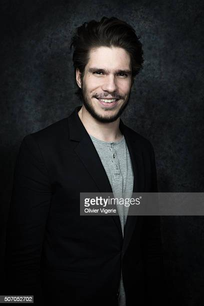 Actor Francois Civil is photographed for Self Assignment on January 13, 2016 in Alpe d'Huez, France.