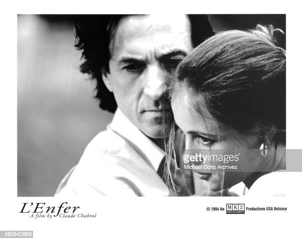 Actor Francois Cluzet and actress Emmanuelle Beart in a scene from the movie 'L'Enfer' circa 1994