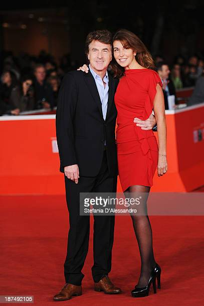 Actor Francois Cluzet and his wife Narjiss Cluzet attends 'En Solitaire' Premiere during The 8th Rome Film Festival on November 9 2013 in Rome Italy