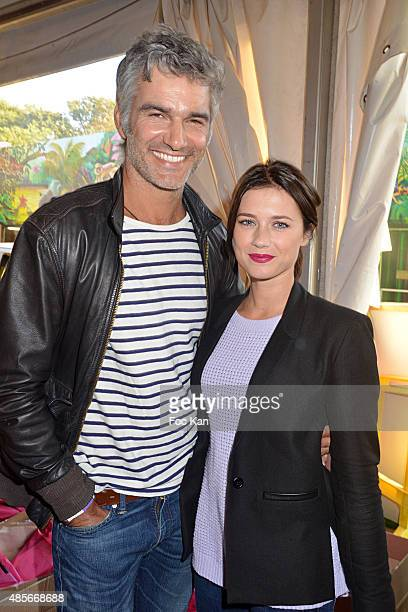 Actor Francois Vincentelli and dancer Alice Dufour attend the 'Fete A Neu Neu' Opening Party to Benefit Laurette Fugain Against Leucemy Association...