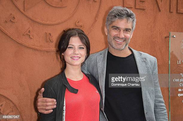 Actor Francois Vincentelli and his companion actress Alice Dufour attend the Roland Garros French Tennis Open 2014 Day 5 on May 29 2014 in Paris...