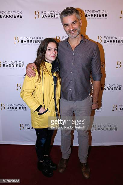 Actor Francois Vincentelli and his daughter attend the Theater Price 2015 of Foundation Diane Lucien Barriere given to the Theater Piece 'Je vous...