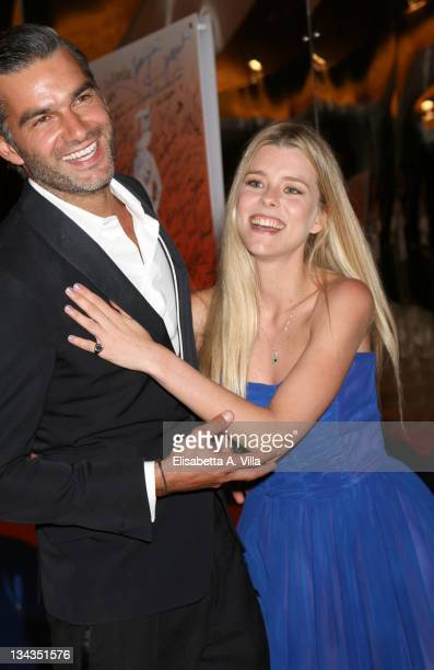 Actor Francois Vincentelli and his girlfriend attend the Roma Fiction Fest 2008 Closing Ceremony and Diamond Awards on July 12 2008 in Rome Italy