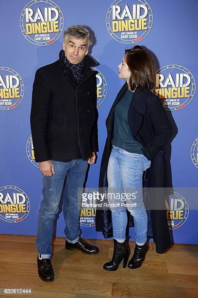 Actor Francois Vincentelli and his partner Actress Alice Dufour attend 'Raid Dingue' Paris Premiere at Cinema Pathe Beaugrenelle on January 24 2017...