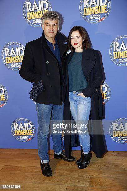 Actor Francois Vincentelli and his partner Actress Alice Dufour attend Raid Dingue Paris Premiere at Cinema Pathe Beaugrenelle on January 24 2017 in...