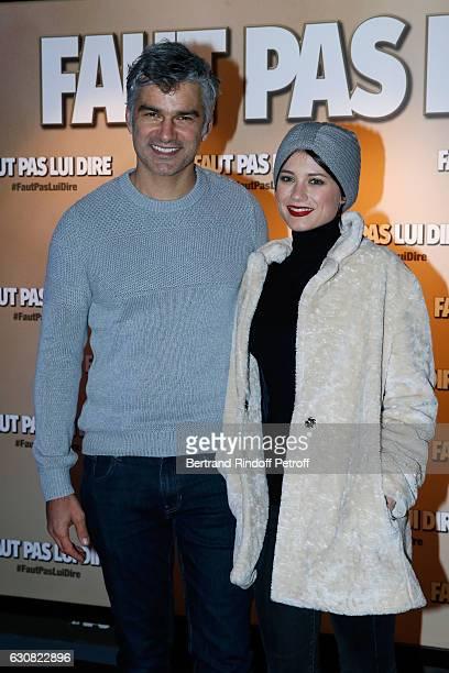 Actor Francois Vincentelli and his wife Alice Dufour attend the 'Faut pas lui dire' Paris Premiere at UGC Cine Cite Bercy on January 2 2017 in Paris...