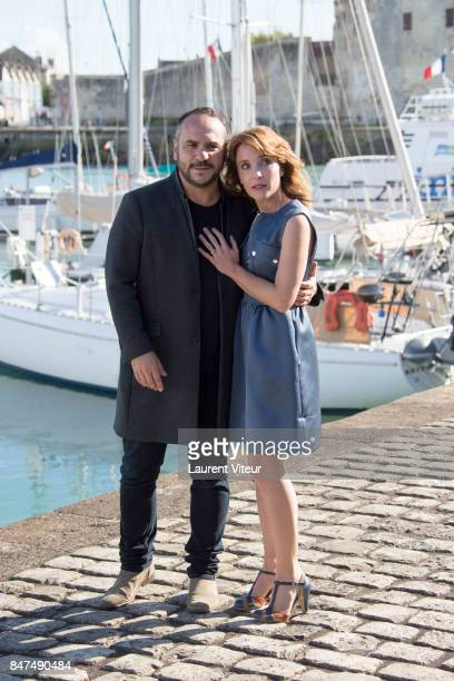 Actor FrancoisXavier Demaison and Alix Poisson attend Quadra Photocall during the 19th Festival of TV Fiction at La Rochelle on September 15 2017 in...