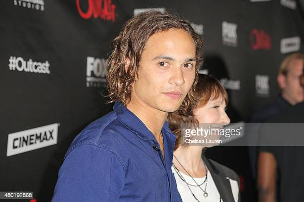 Actor Frank Dillane and producer Gale Anne Hurd arrive at FOX International Studios' ComicCon Party Celebrating Robert Kirkman's New Drama 'Outcast'...