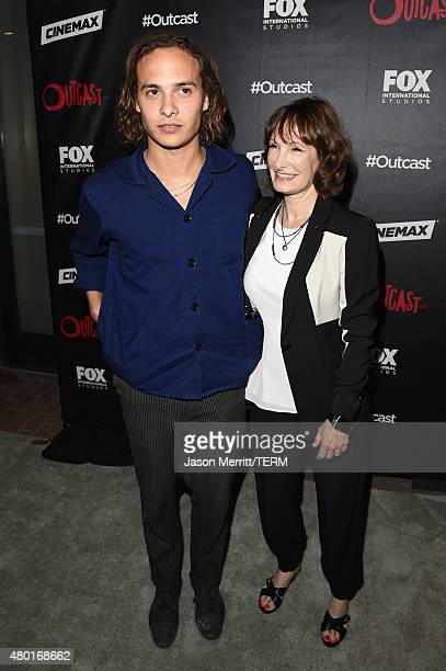 Actor Frank Dillane and producer Gale Anne Hurd attend FOX International Studios' ComicCon Party Celebrating Robert Kirkman's New Drama 'Outcast'...