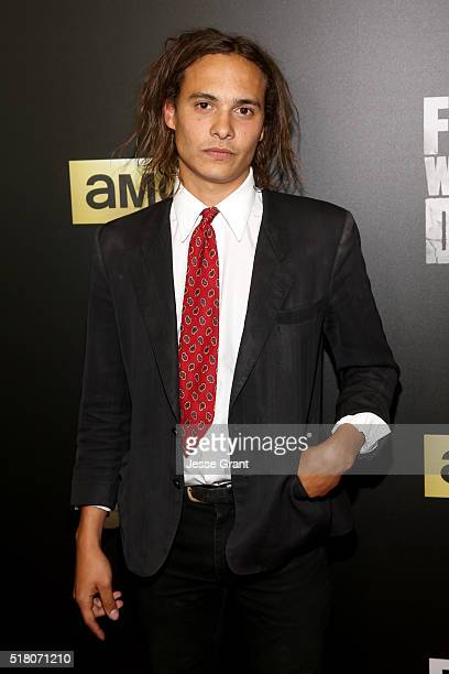 Actor Frank Dillane attends the season 2 premiere of 'Fear the Walking Dead' at Cinemark Playa Vista on March 29 2016 in Los Angeles California