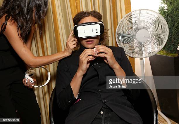 Actor Frank Dillane of AMC's 'Fear the Walking Dead' attends the Getty Images Portrait Studio powered by Samsung Galaxy at 2015 Summer TCA's at The...