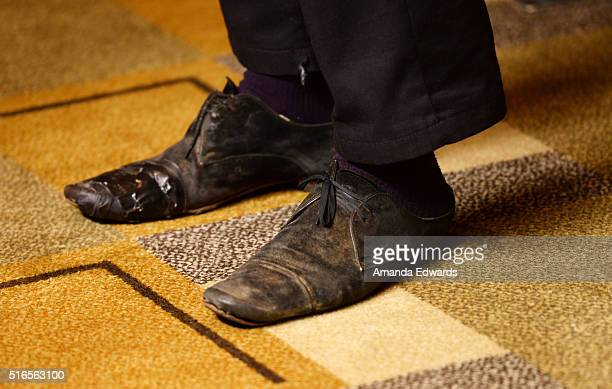 Actor Frank Dillane shoe detail arrives at The Paley Center For Media's 33rd Annual PaleyFest Los Angeles presentation of 'Fear The Walking Dead' at...