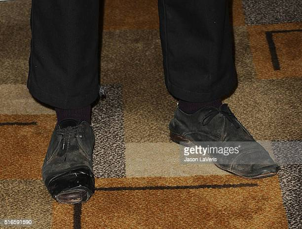 Actor Frank Dillane shoe detail attends the 'Fear The Walking Dead' event at the 33rd annual PaleyFest at Dolby Theatre on March 19 2016 in Hollywood...
