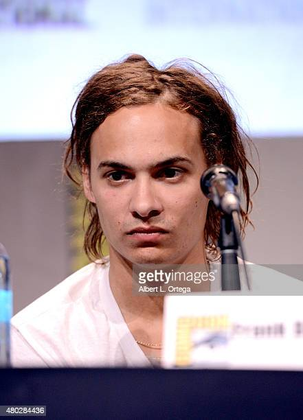 Actor Frank Dillane speaks onstage at AMC's 'Fear the Walking Dead' panel during ComicCon International 2015 at the San Diego Convention Center on...