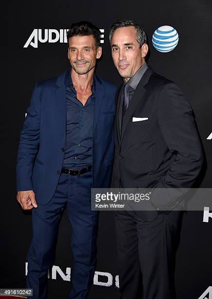 Actor Frank Grillo and Jeremy Gold EVP Endemol Shine Studios attend the premiere of DIRECTV's Kingdom Season 2 at SilverScreen Theater at the Pacific...