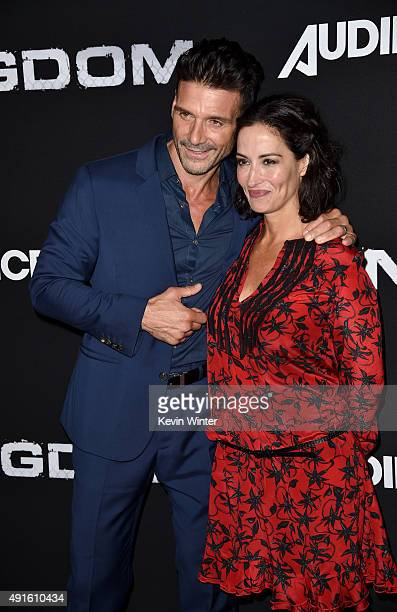 Actor Frank Grillo and Wendy Moniz attend the premiere of DIRECTV's Kingdom Season 2 at SilverScreen Theater at the Pacific Design Center on October...