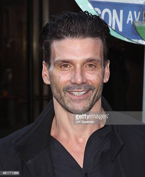 Actor Frank Grillo attends The Cinema Society Screening of 'Captain America The Winter Soldier' Screening at Tribeca Grand Hotel on March 31 2014 in...