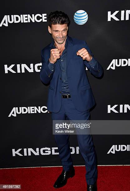 Actor Frank Grillo attends the premiere of DIRECTV's Kingdom Season 2 at SilverScreen Theater at the Pacific Design Center on October 6 2015 in West...
