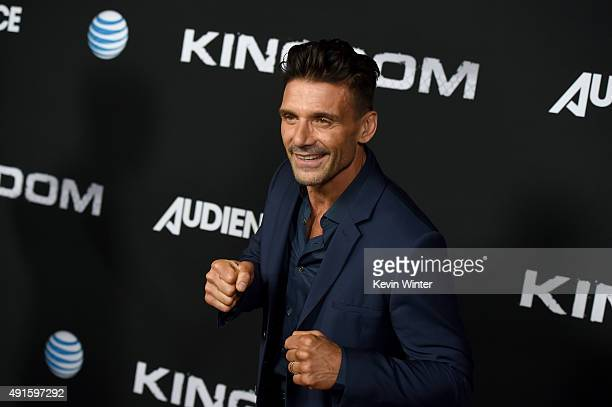 Actor Frank Grillo attends the premiere of DIRECTV's 'Kingdom' Season 2 at SilverScreen Theater at the Pacific Design Center on October 6 2015 in...