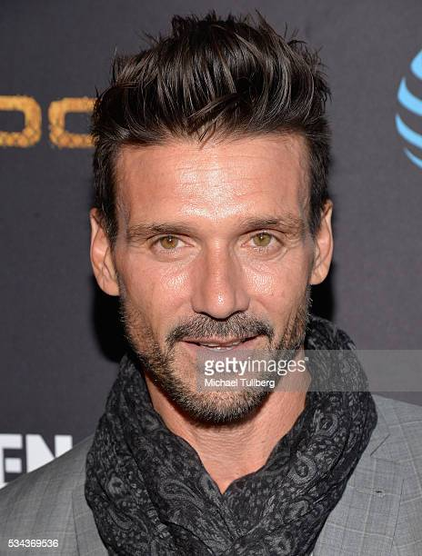 Actor Frank Grillo attends the premiere screening for DirecTV's 'Kingdom' at Harmony Gold Theater on May 25 2016 in Los Angeles California