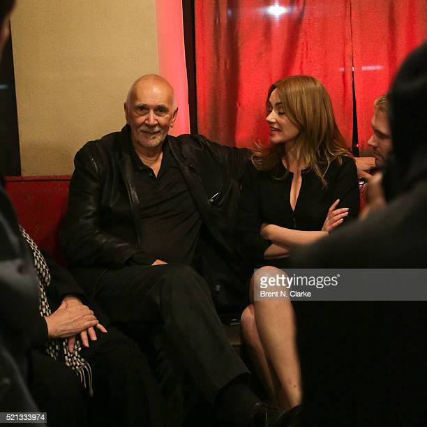 Actor Frank Langella and Marine Delterme attend the cast party following the opening night performance of The Father held at the Samuel J Friedman...