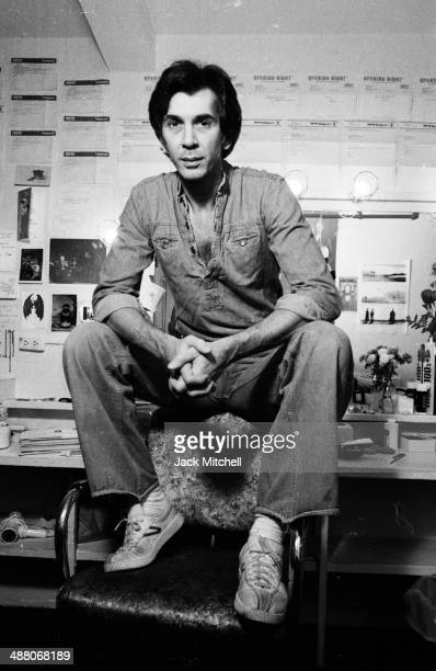 Actor Frank Langella photographed November 3 1977 in his dressing room during the run of 'Dracula' on Broadway