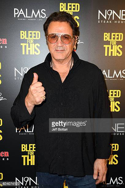 Actor Frank Stallone attends the Las Vegas screening of the film 'Bleed for This' at the Brenden Theatres inside Palms Casino Resort on November 17...