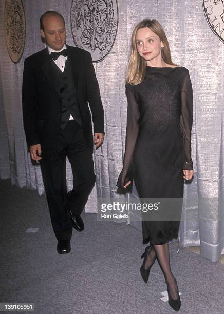 Actor Frank Wood and actress Calista Flockhart attend the 53rd Annual Tony Awards on June 6 1999 at the Gershwin Theatre in New York City