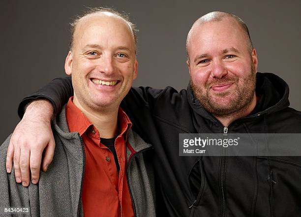 Actor Frank Wood and writer/director Noah Buschel of the film Lymelife pose for a portrait at the Film Lounge Media Center during the 2009 Sundance...