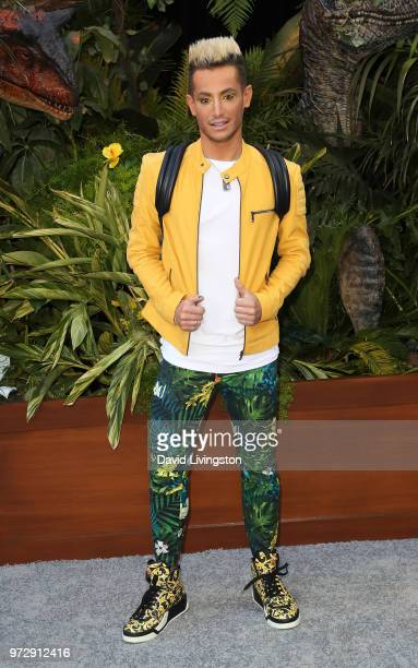 Actor Frankie Grande attends the premiere of Universal Pictures and Amblin Entertainment's 'Jurassic World Fallen Kingdom' at Walt Disney Concert...