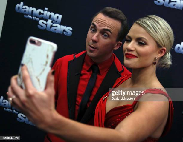 Actor Frankie Muniz and dancer Witney Carson appear on Instagram 'Dancing with the Stars' season 25 at CBS Televison City on September 25 2017 in Los...