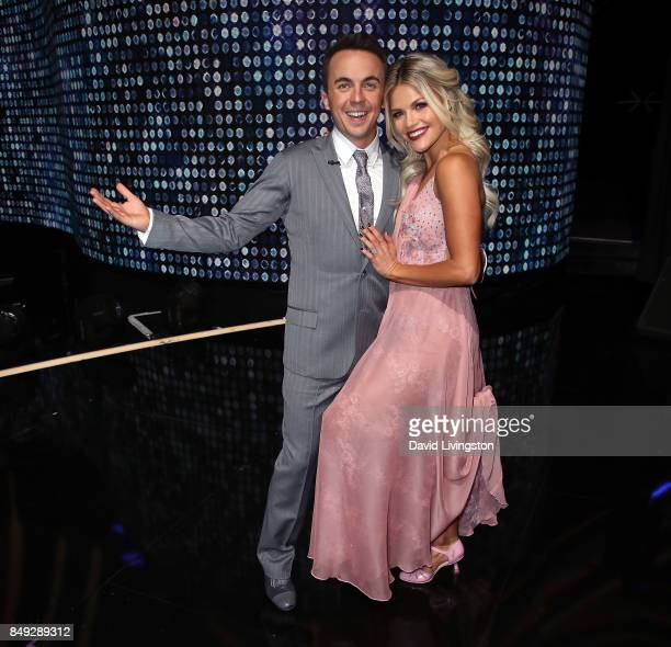 Actor Frankie Muniz and dancer Witney Carson attend 'Dancing with the Stars' season 25 at CBS Televison City on September 18 2017 in Los Angeles...