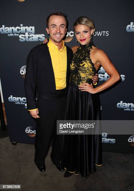Actor Frankie Muniz and dancer Witney Carson pose at 'Dancing with the Stars' season 25 at CBS Televison City on November 13 2017 in Los Angeles...