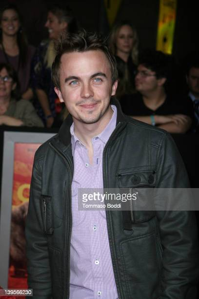 Actor Frankie Muniz attends the John Carter Los Angeles premiere held at the Regal Cinemas LA Live on February 22 2012 in Los Angeles California