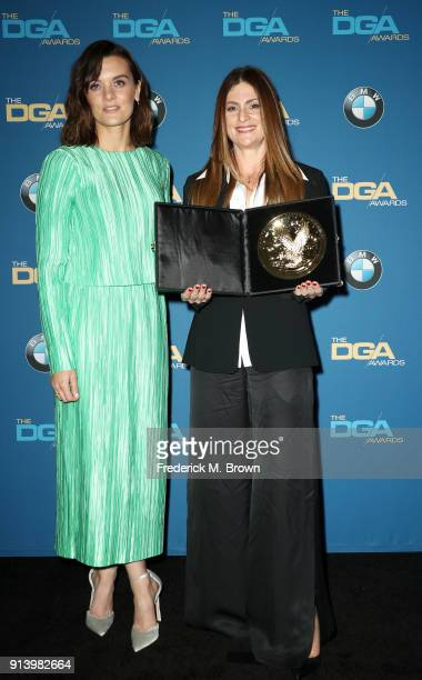 Actor Frankie Shaw and director Niki Caro winner of the award for Outstanding Directorial Achievement in Children's Programs for the 'Anne with an E'...