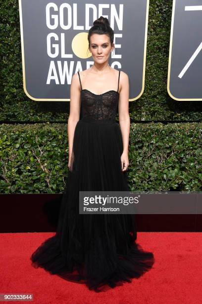 Actor Frankie Shaw attends The 75th Annual Golden Globe Awards at The Beverly Hilton Hotel on January 7 2018 in Beverly Hills California
